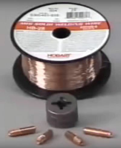 Miller 135 Wire, drive roll and contact tips
