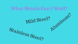 Home MIG Welding Metals