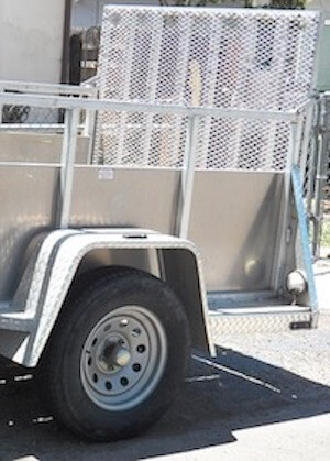 Build a trailer Ramp Gate