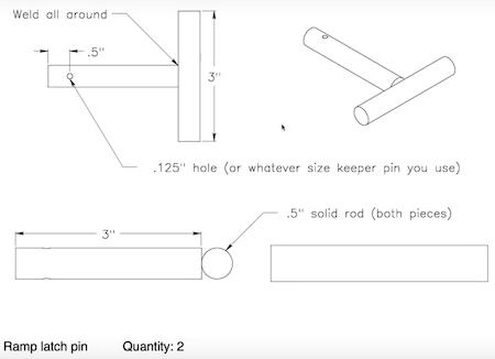 Latch Pin Construction