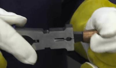 MIG Welding Pliers On Nozzle