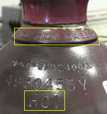 Argon Tank Ownership Marks