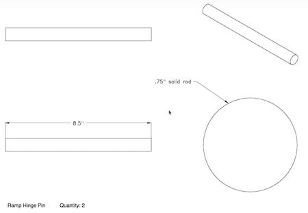 Ramp Hinge Pin - Part 3