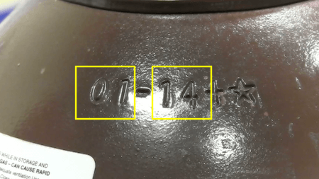 Gas Cylinder Test Date Stamp
