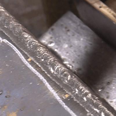 Flux Core Weld of Mild Steel
