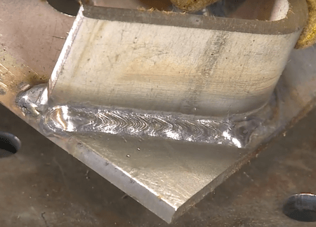 Stainless Steel Flux Core 1/4 inch Outside Corner Weld