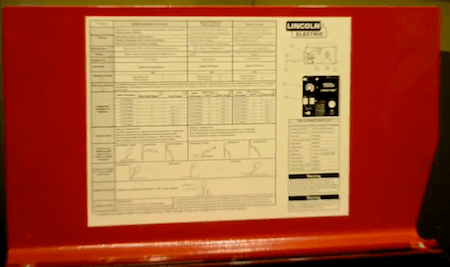 Lincoln Handy MIG Welding Parameters Chart