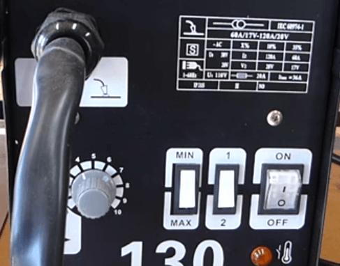 MIG 130 Front Controls