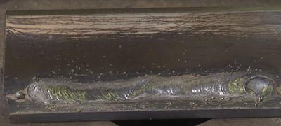 Example Of Flux Core Weld Slag Removed