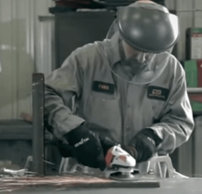 Grinding Off Mill Scale