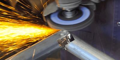 Tiger Paw Grinding Mild Steel