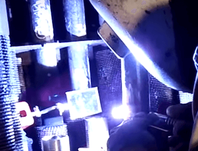TIG Welding With Mirror