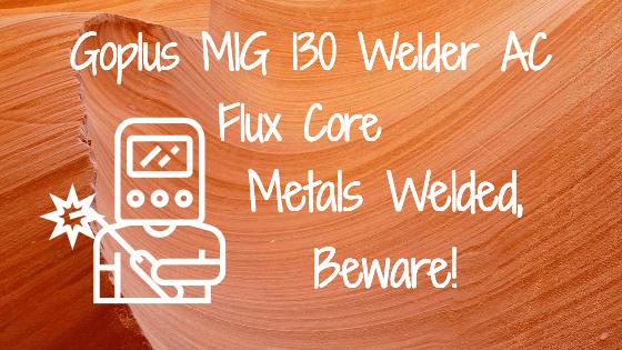 Goplus MIG 130 Welder AC Flux Core Title Image