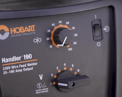 Hobart 190 Output Dial And Wire Feed