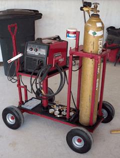 L E Heavy Duty Welder Cart