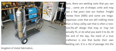 Rick Webster MIG TIG And Plasma Cart