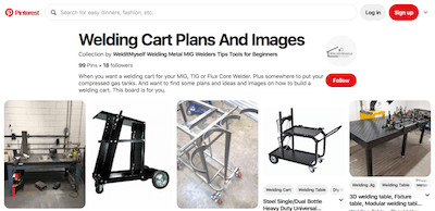 Welding Cart Plan Pinterest Board