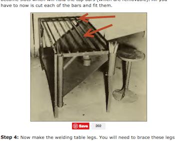 Vintage Welding Table Plans