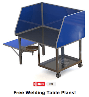 Welding Table With Screen Plan
