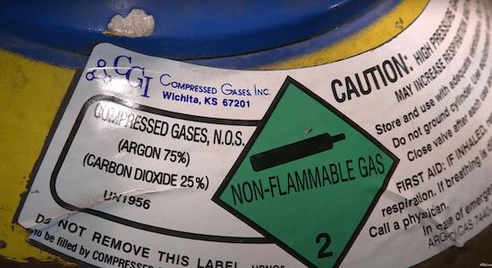 75/25 Shielding Gas Bottle